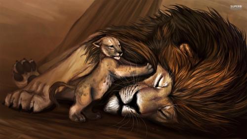 cub-waking-up-lion