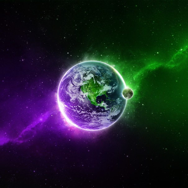 Planets_In_Green_And_Violet_Colors